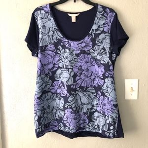Banana Republic Floral Lightweight Top Womens Sz L